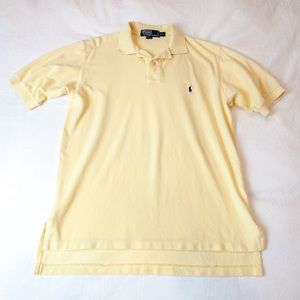 Polo by Ralph Lauren Pale Yellow Polo Tee - Med
